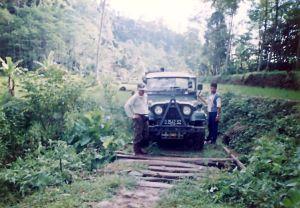 Berburu di hutan Sancang Garut selatan dengan Jeep CJ6-1974